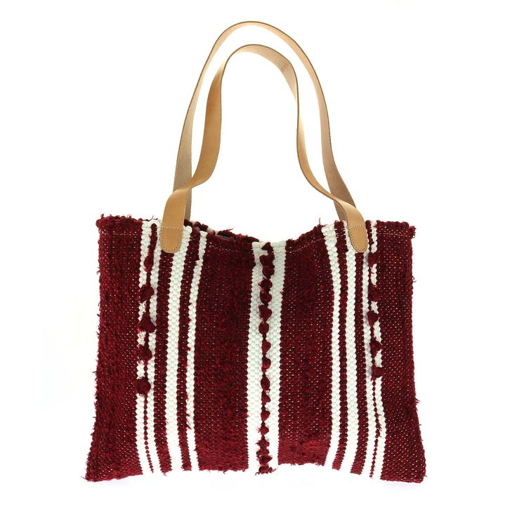 "LOOM handmade woven ""kourelou"" handbag, ""Klotho"" !!! #new_collection #LOOM_SS15 #handmade_woven_bags #kourelou #creation_from_rags #Loom_From_Hand_To_Hand #Hold_on_to_what_matters www.loomhandmade.com"