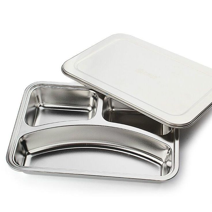 Stainless Steel Plate With Compartments Lunch Box  #Trend #Buy #Sale #Hot #Discount #New