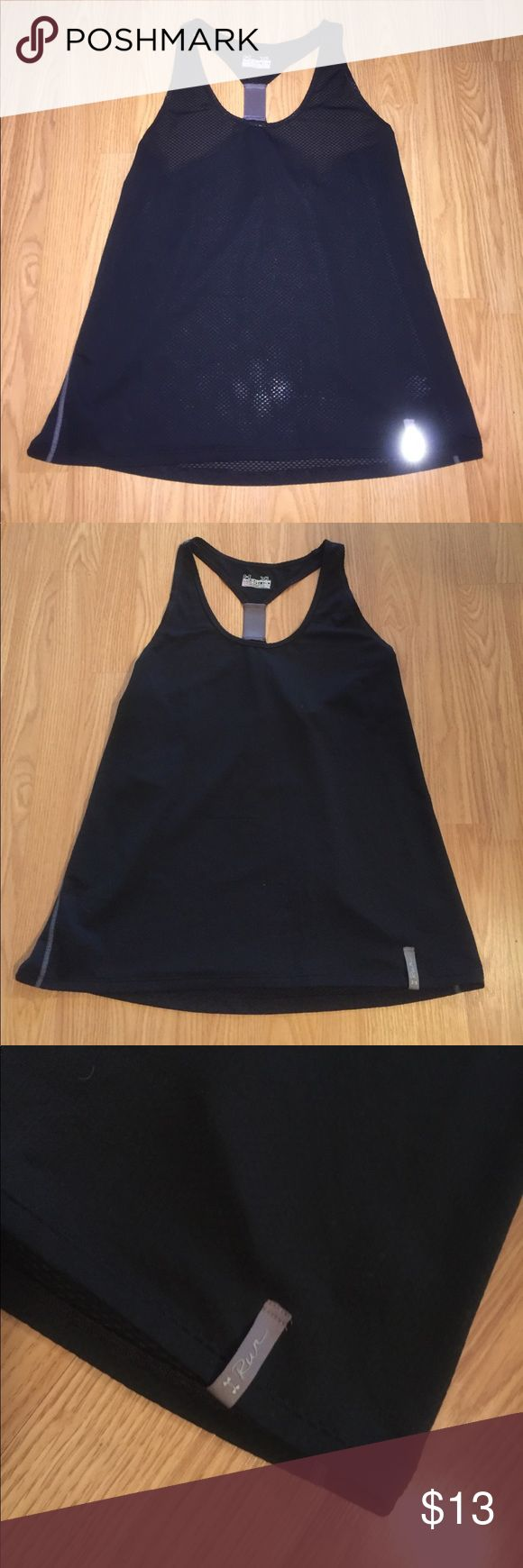UNDER ARMOUR athletic workout tank + leggings XL Lot of 2-- 1.) UNDER ARMOUR brand. Running athletic workout racerback tank. Color-black. Ladies/ women's XL. 2.) Champion brand athletic leggings. cropped at ankle. Black with white and gray across front of legs. Ladies /women XL. Both items are in great condition! Under Armour Tops Tank Tops