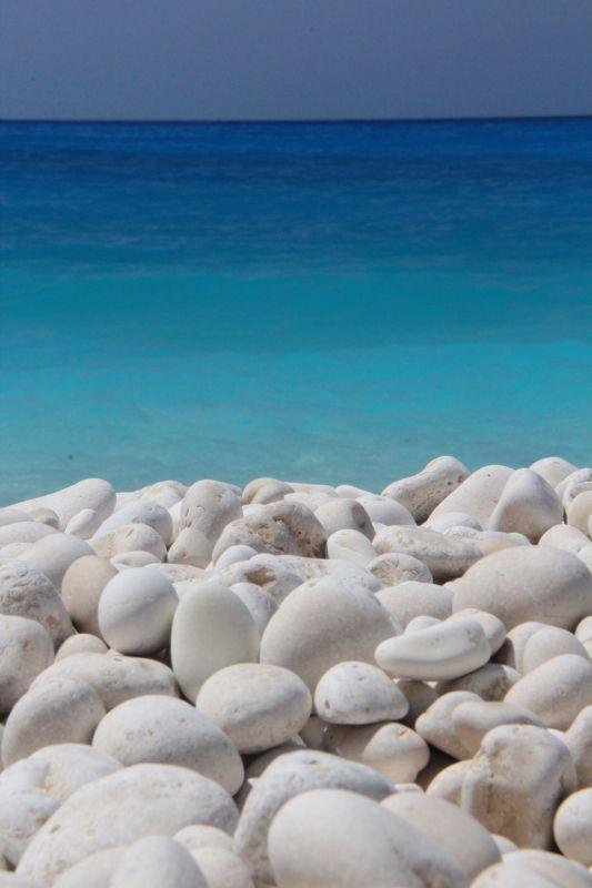 White and all shades of blue... Myrtos beach, Kefalonia , Greece