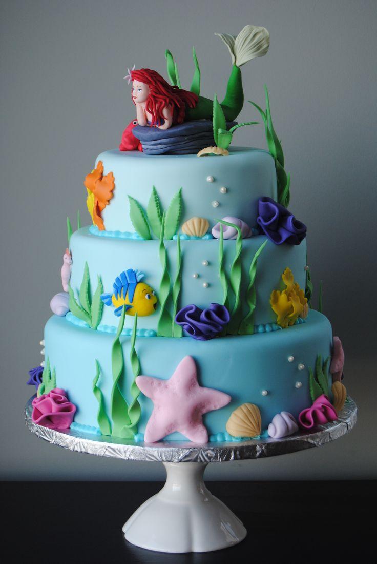 ... Mermaid cake on Pinterest  Little mermaid ariel, Little mermaid cakes