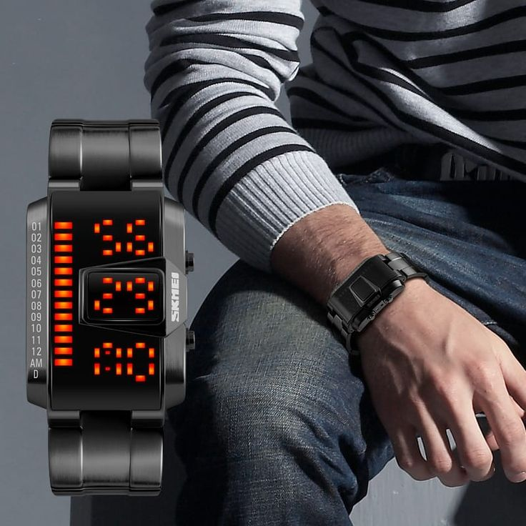 Want to look like a spaceship commander straight from science fiction? Check out this ultra cool futuristic LED watch available in black or steel finish.  Be a true hero, get it while stock lasts.