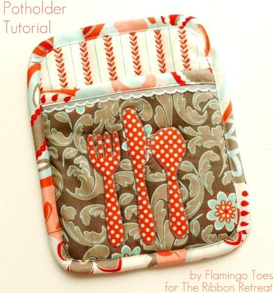 Very cuteSewing Projects, Sewing Crafts, Potholders Tutorials, Pots Holders, Kitchens Accessories, Pattern Sewing, Hot Pads, Kitchens Items, Eating Potholders