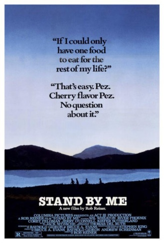 """Stand By Me, starring Wil Wheaton, River Phoenix, Jerry O'Connell and Corey Feldman, with John Cusack, Kiefer Sutherland and Richard Dreyfuss. Directed by Rob Reiner; written by Bruce A. Evans and Raynold Gideon, based on the short story """"The Body"""" by Stephen King. ($19.99)"""