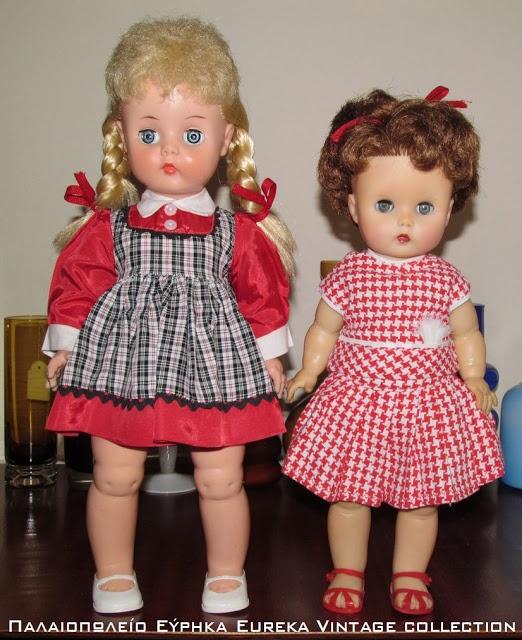 2 παλιές αμερικάνικες κούκλες