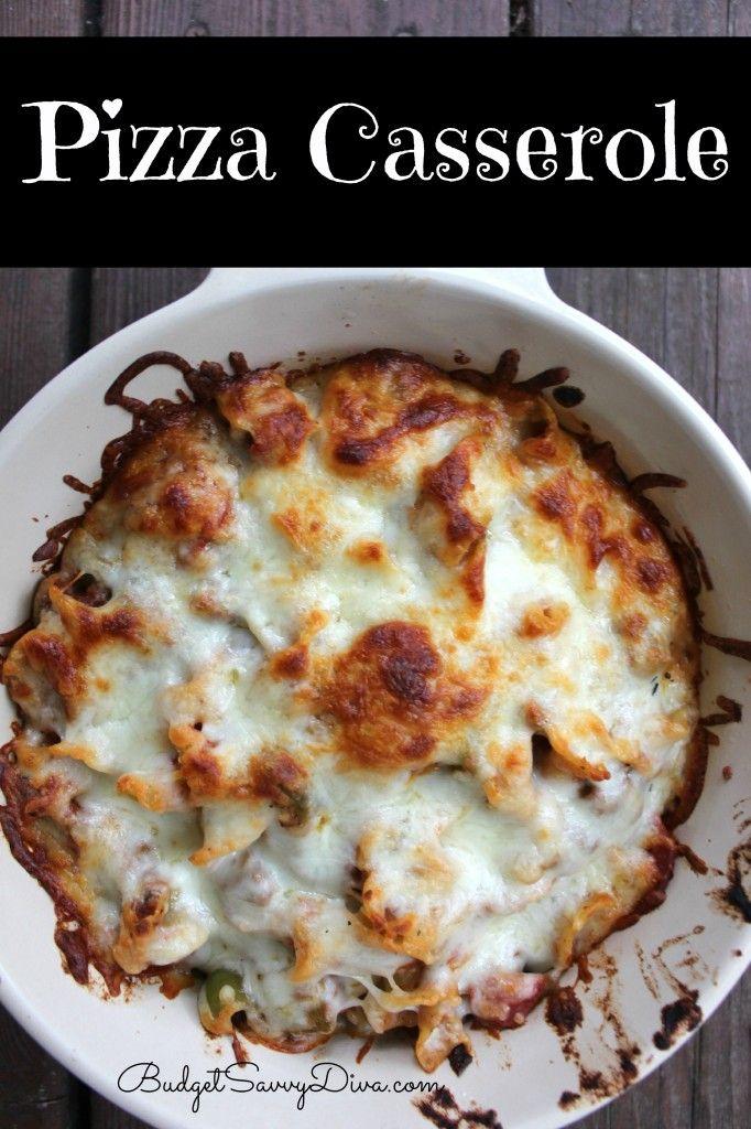 Pizza Casserole Recipe | Food | Pinterest