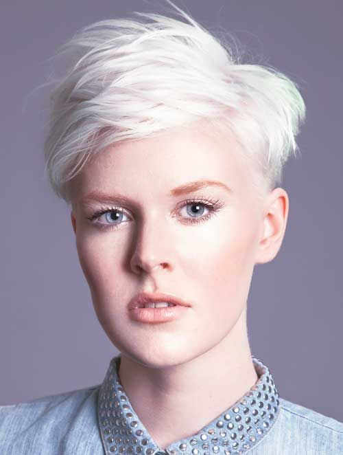 Beautuful Icy Blonde Spiky Pixie | Pixie Haircut ...