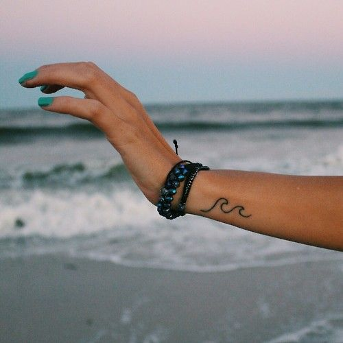 Simple wave tattoo by Mallory P at Headlight tattoo New Jersey