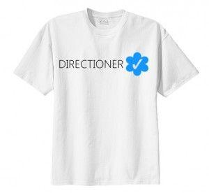 T-shirt koszulka DIRECTIONER VERIFIED 1D modna bluzka dla fanów z nadrukiem napisem