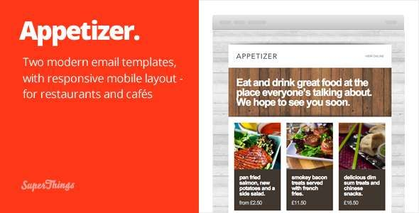 180 Absolute Best Responsive Email Templates - Appetizer - responsive html email template