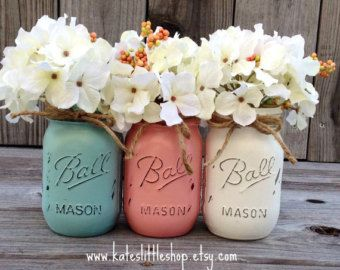 Painted Mason Jars. Vase. Vintage looking Painted Mason Jars Also see Chasing Fireflies - the Scentsy, painted mason jar warmer of the month! kande@scentwithlove.us | kande.scentsy.us