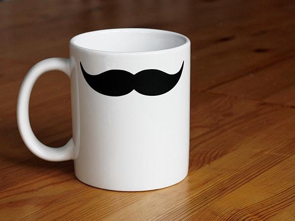 Mug with moustache print | zeug & gold