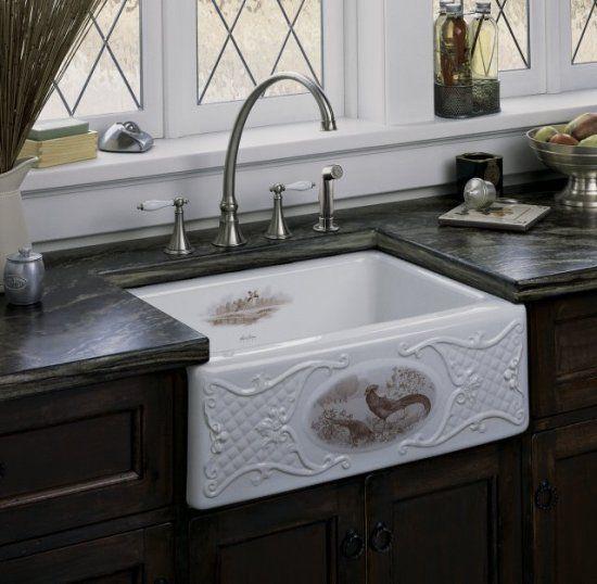 Farmhouse Pheasant Sink Around The House Pinterest