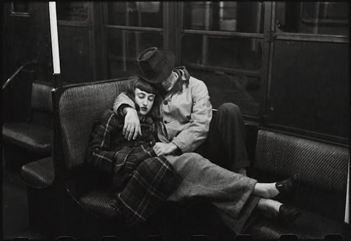 A couple on the subway - photo by Stanley Kubrick [1946]
