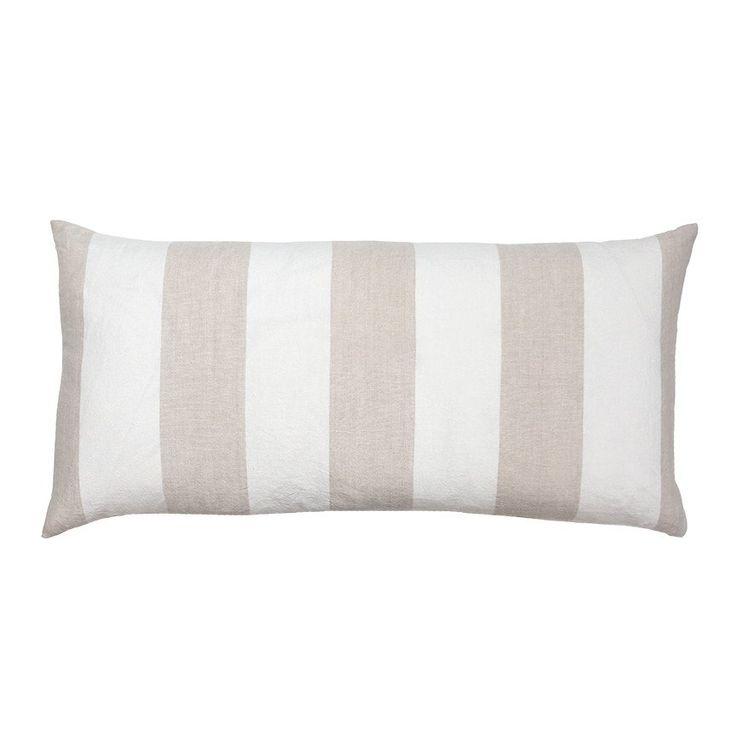 $93 Linen Stripe Body Pillow