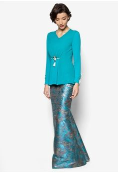 Katarina Baju Kurung from Jovian Mandagie for Zalora in blue_1