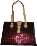 Women's Arcadia Patent Leather Purse Handbag Vinegar/Natural