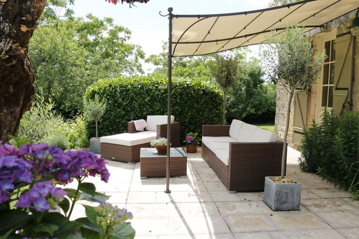 The lounge area. Sun and shade . Summer 2016