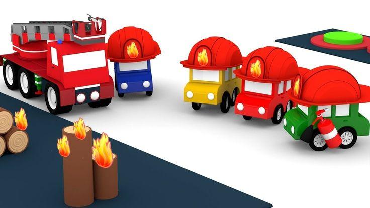 Cartoni animati per bambini - Le macchinine colorate e la scuola dei vig...