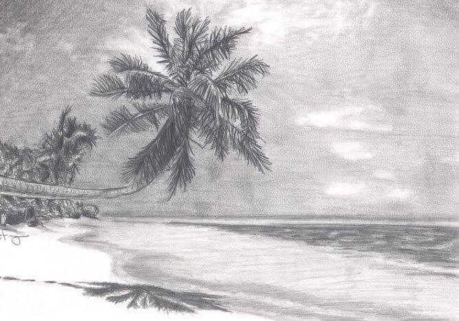 Menakjubkan 30 Contoh Gambar Pemandangan Arsir 50 Lukisan Pemandangan Alam Gunung Laut Dan Pantai Indah Download Teknik Di 2020 Lukisan Pemandangan Lukisan Arang