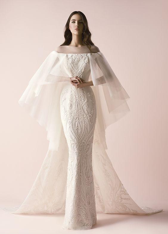 Featured Wedding Dress: Saiid Kobeisy; www.saiid-kobeisy.com/; Wedding dress idea.