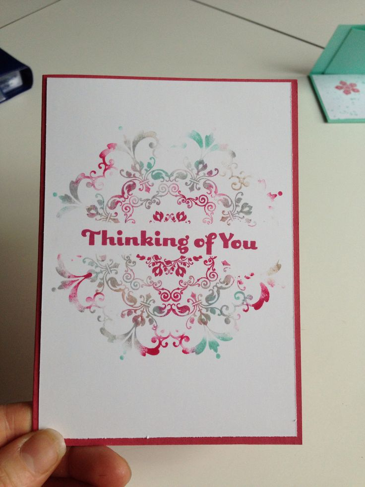 """Carte """"Thinking of you"""" (Stampin'Up)"""