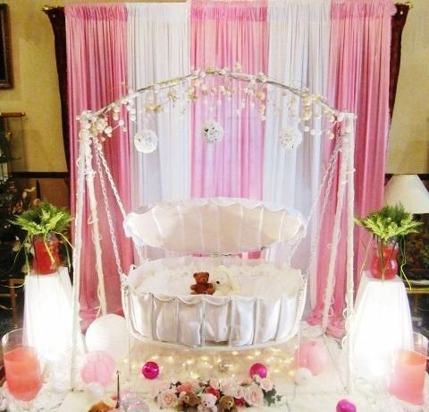 Best 25 naming ceremony decoration ideas on pinterest for Baby cradle function decoration
