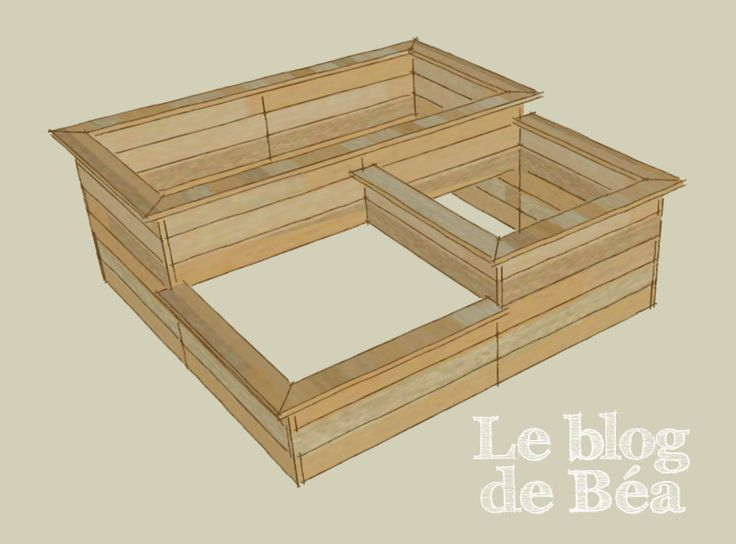 carr potager 3 bacs pallets raised bed garden les diy et pas pas du blog de b a. Black Bedroom Furniture Sets. Home Design Ideas