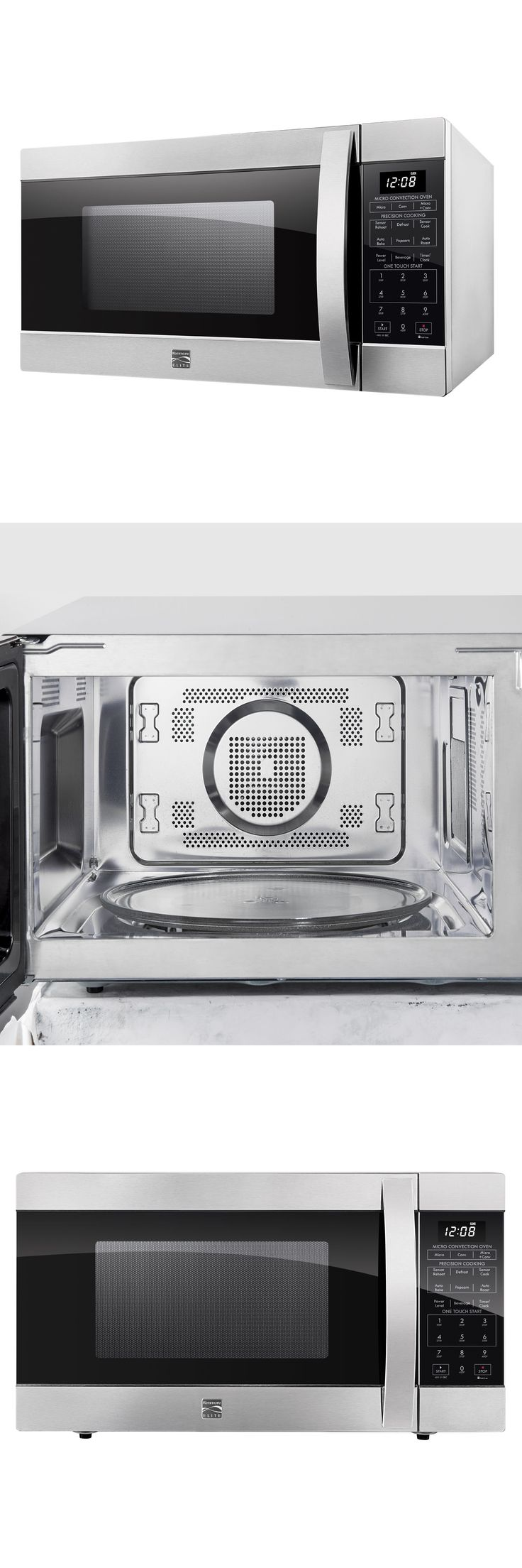 Microwave Ovens 150138: Kenmore Elite 1.5 Cu. Countertop Microwave Convection Oven Stainless 77603 Dent -> BUY IT NOW ONLY: $149.99 on eBay!