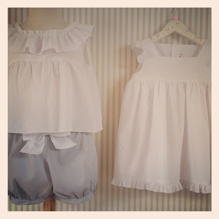 Colección Plumeti   Bloomers and dresses