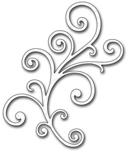 DIE-NAMICS DIE - MFT207 - FANCY FLOURISH LARGE MY FAVORITE THINGS: Die-namics. Bring your next paper craft project to life with this steel die. Die-Namics will cut through cardstock; thin chipboard; 1/4 inch felt; acetate; sticky back canvas; fabric; denim; sandpaper; and much more. This package contains one 3-1/2x5-1/2 inch die. Design: Large Fancy Flourish.Use with Big Shot, Cuttlebug, Vagabond and e-Bosser.