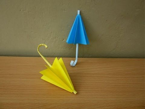 ▶ How to Make a Paper Umbrella (Rainy Season) - Easy Tutorials - YouTube