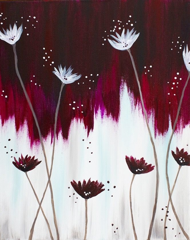 Can't remember where I saw this, one of the wine and canvas type painting classes. I would credit it if I could remember.