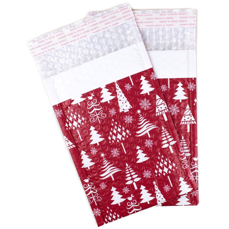 "Christmas Trees Bubble Mailers 6x9"" - Pack of 25"