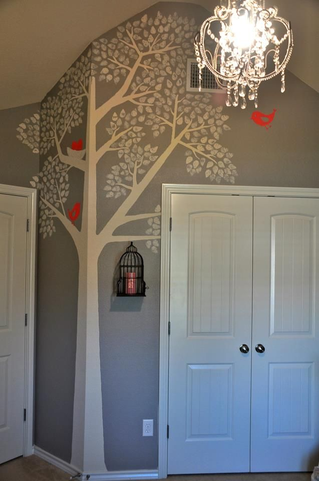 Finally finished the tree wall in the nursery!