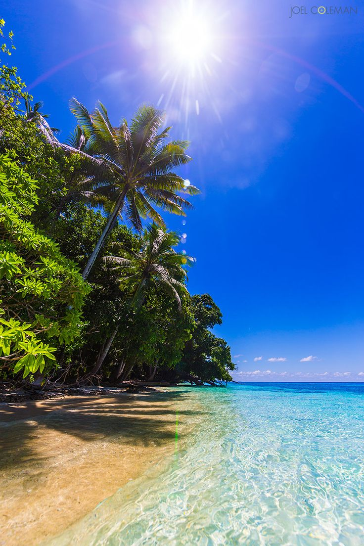 "Photographer Joel Coleman: ""The definition of paradise! Just another picture perfect scene in PNG, around Manus Island."""