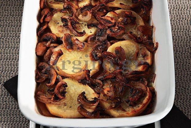 Συγκλονιστικές πατάτες φούρνου με μανιτάρια