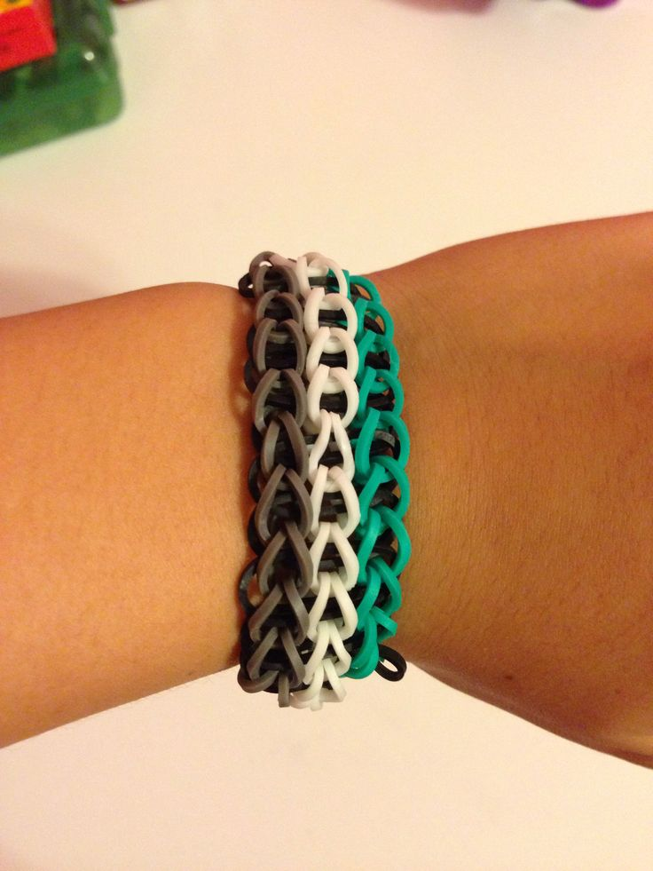 Triple Single Rainbow Loom Bracelet | DIY bracelets | Pinterest