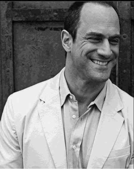 I'm a total Melonian, member of the Melonia love. Christopher Meloni is a total silver fox minus the silver hair.