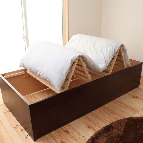 布団が干せる桐すのこ大量収納ベッド 通販 【ニッセン】 ベッド・マットレス すのこベッド・畳ベッド