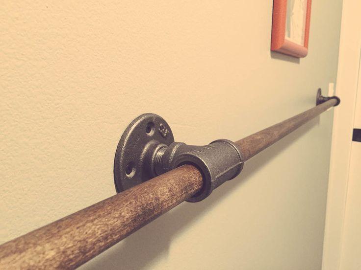 DIY Wall Mounted Industrial Drying Racks