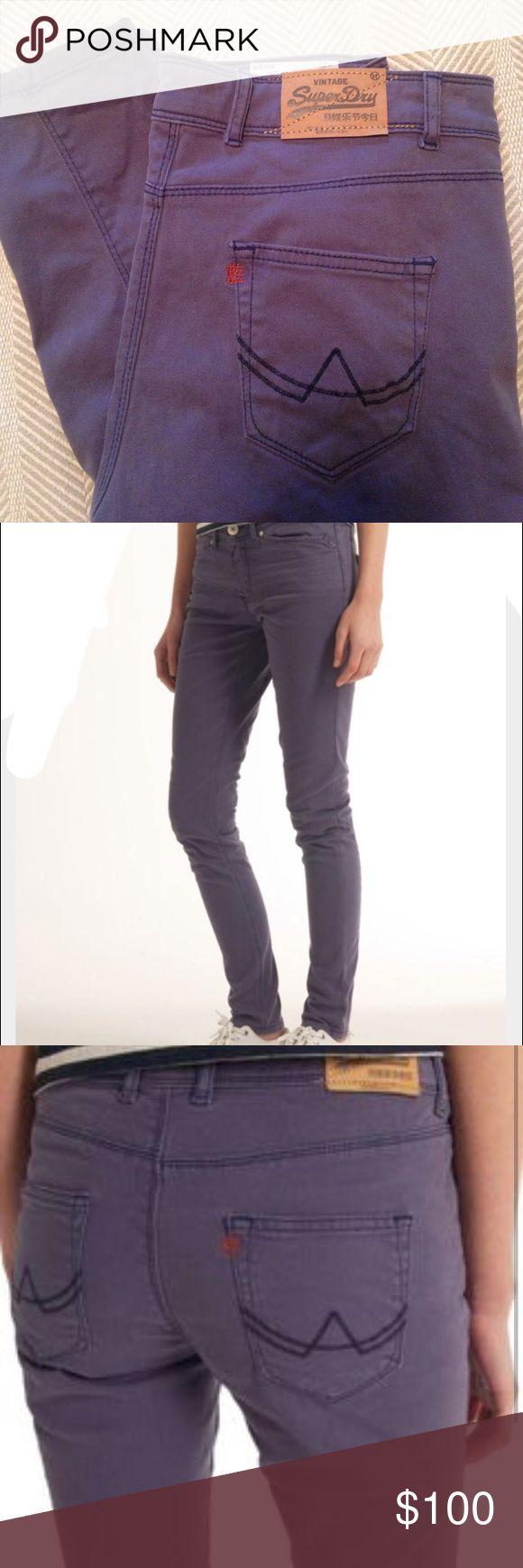 SuperDry Strutt Sulphur Purple Skinny Jeans SuperDry Strutt Sulphur Purple Skinny Jeans. Size 29, 32L. Superdry Jeans Skinny