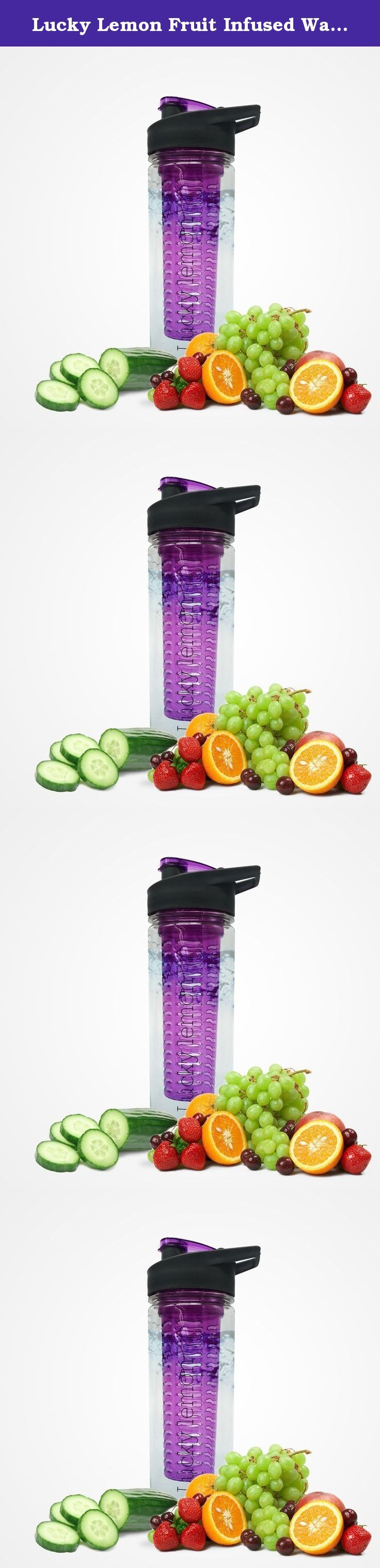 Lucky Lemon Fruit Infused Water Bottle Is a 100% BPA Free, Water Bottle Infuser Has Tritan Plastic, Fruit Infused Bottle Is 30 Oz with Multiple Colors to Choose From. (Purple). Why would drink bland water when you can buy a fruit infused water bottle and drink delicious fruit flavored water without all those chemicals and sugar. Keeps you hydrated through out the day. Helps you kick start that diet! Drinking fruit infused water will help weight loss as well as to improve your digestion…