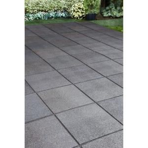 Envirotile 24 In. X 24 In. Flat Profile Grey Paver   MT5000745 At The