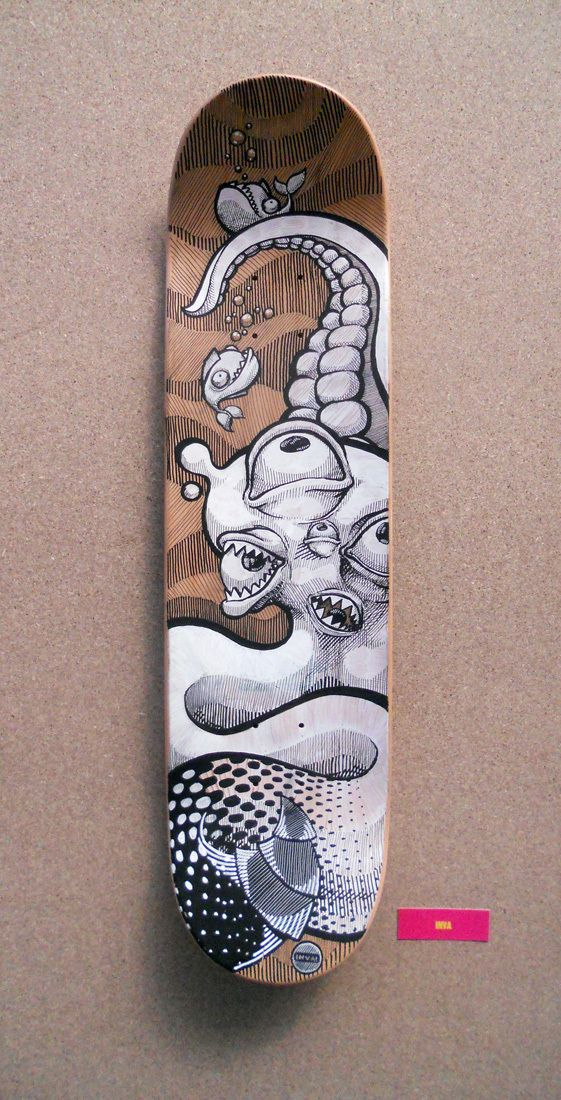 Skateboard · Decks · Art · Black & White · Posca