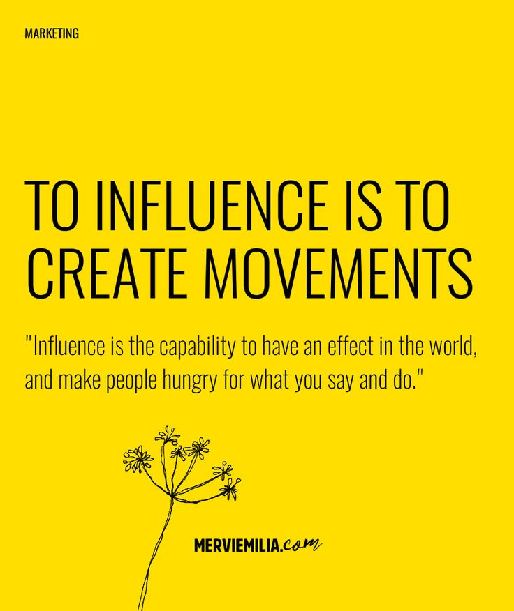 To influence is to create movemets. Influence is the capability to have an effect in the world, and make people hungry for what you say and do. #influence #audio #training #inspiration #success #business #marketing #socialmedia