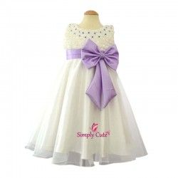 Bow Beauty Lavender Frock for babies, kids & girls - SF-238L
