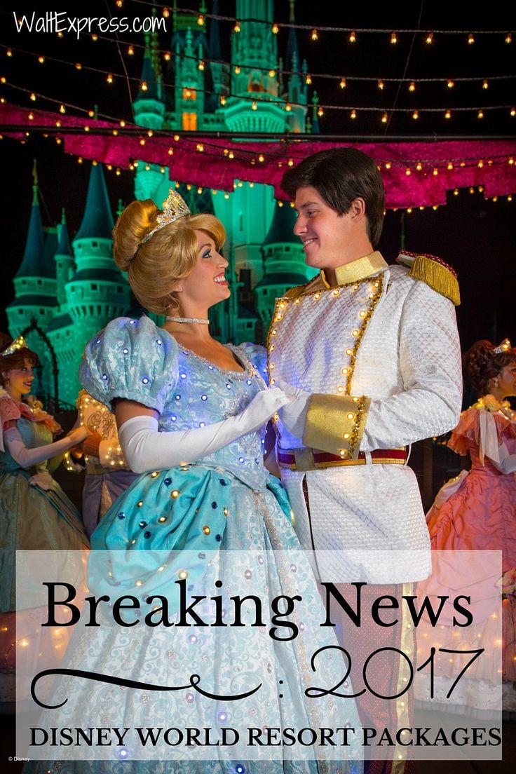 BREAKING NEWS: 2017 Walt Disney World Resort Packages are out! #DisneyWorld #Disney