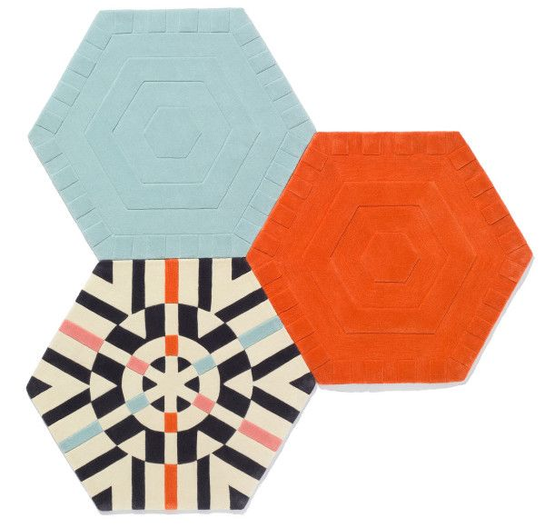 Colorful modular carpeting system by kinder GROUND .