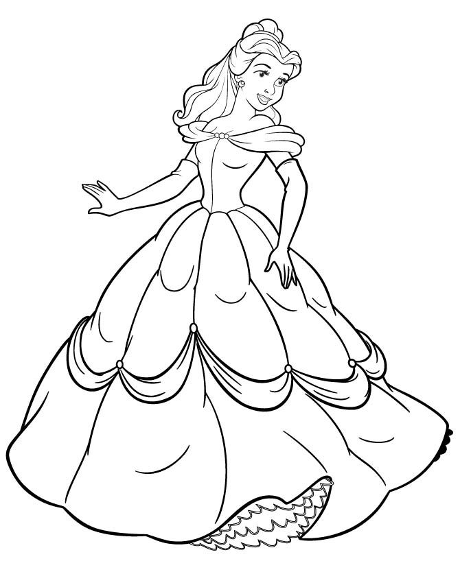 Free Printable Belle Coloring Pages For Kids | Belle ...